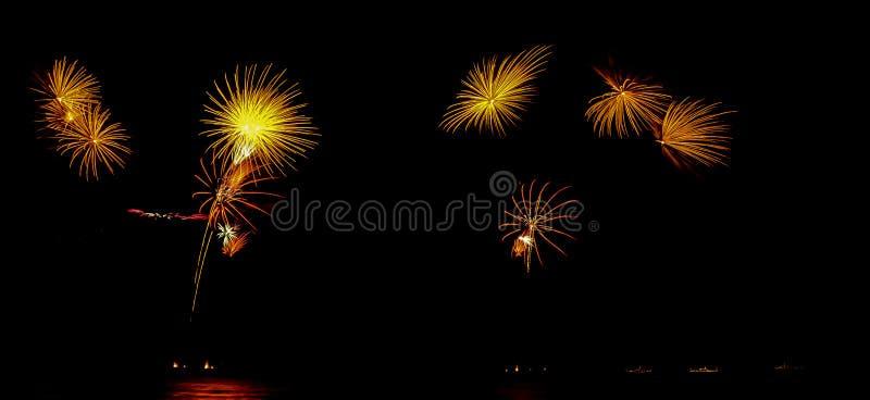 Firework ,show ,celebrate ,king ,birthday. Firework show celebrate king of birthday royalty free stock image