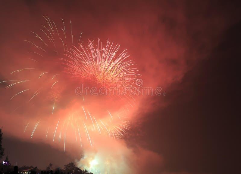 Firework with smoke stock photos