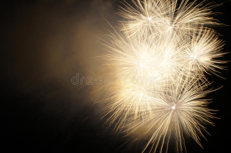 Firework with smoke royalty free stock photo