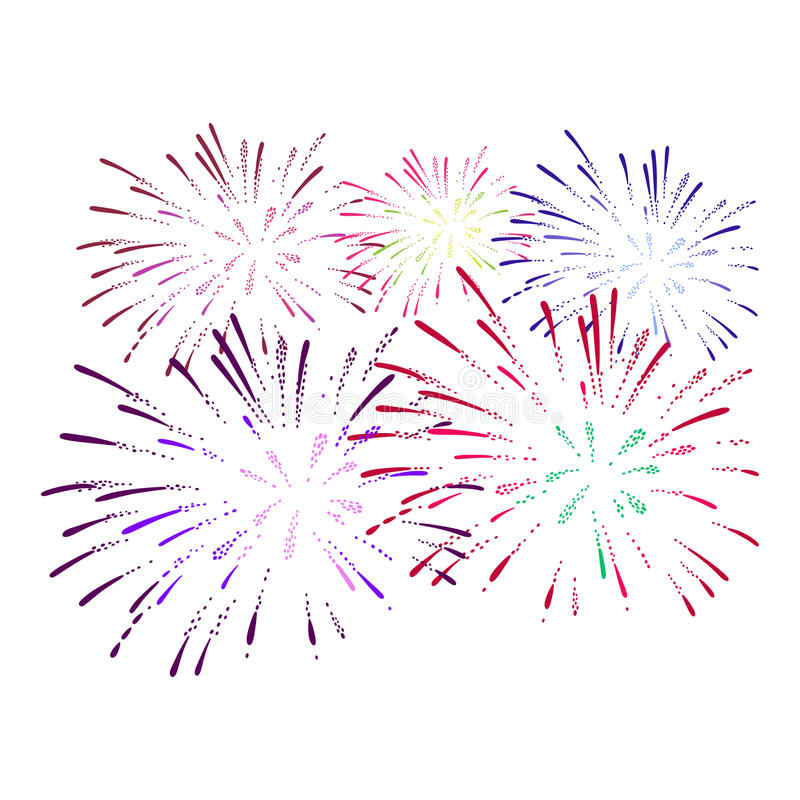 Firework on white background. Vector illustration. Colorful firework on white background. Vector illustration vector illustration