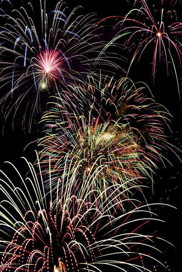 Download Fireworks stock image. Image of color, party, display - 10027465