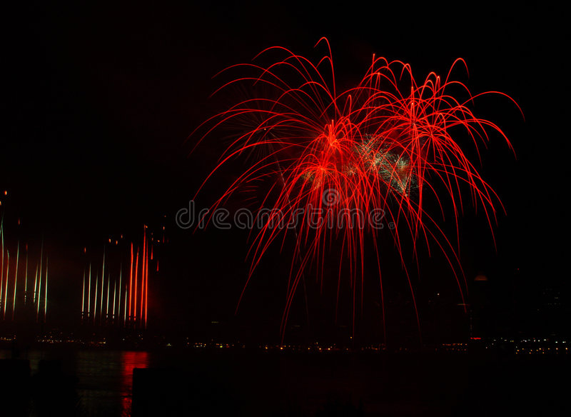 Download Fireworks stock image. Image of streamers, holiday, fireworks - 10121