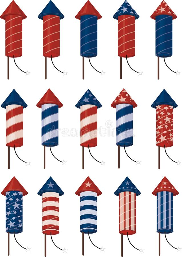 Fireworks. To use in 4th of july celebrations royalty free illustration