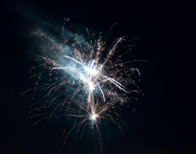 Fireworks. And deep black night stock photos