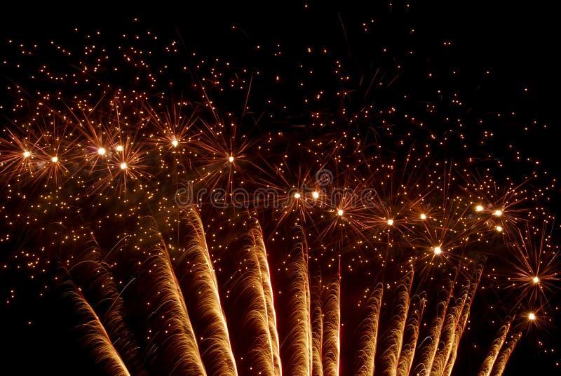 Fireworks. On a black sky stock photo