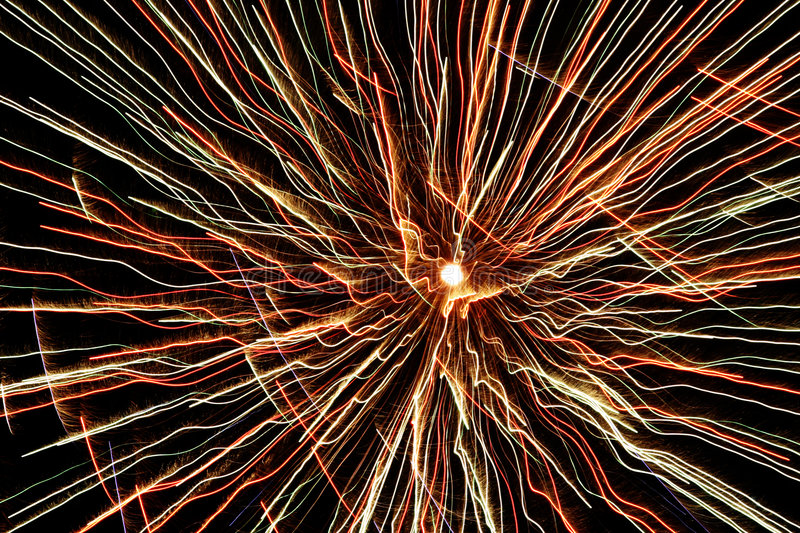 Fireworks 15. Exploding colorful fireworks against a night sky royalty free stock images