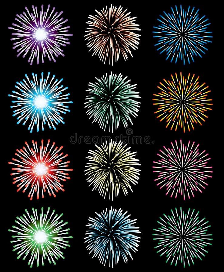 Download Fireworks stock vector. Illustration of background, celebrate - 15093274