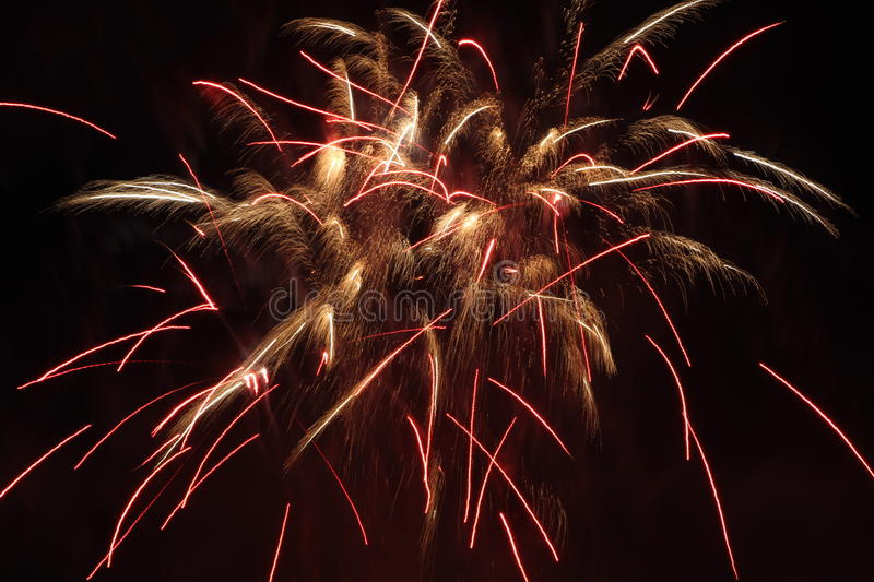 Fireworks. To close of the fair at Enschede Holland stock photography