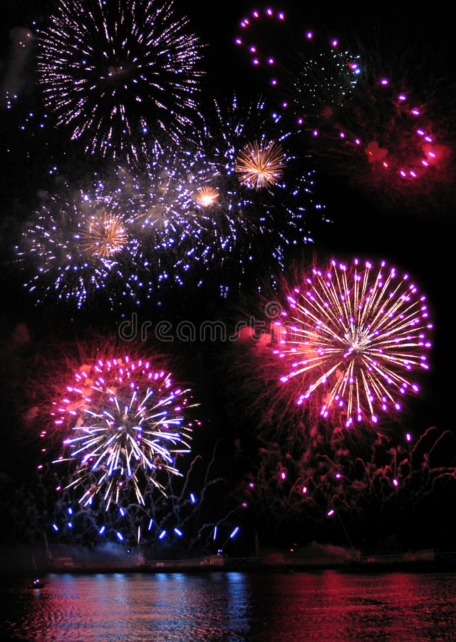 Download Fireworks stock photo. Image of layout, happy, nice, pink - 154818