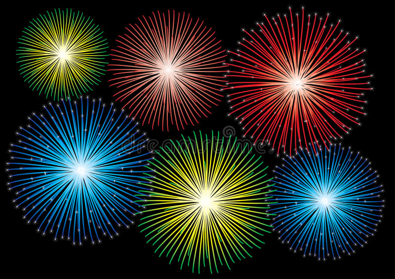 Download Fireworks stock vector. Image of sparkle, seasonal, carnival - 16109572