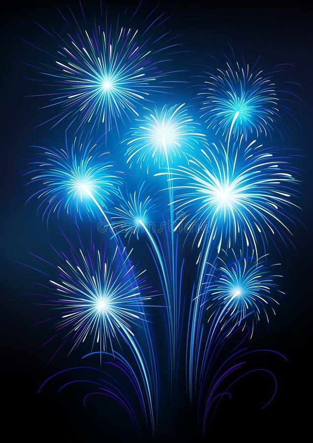 Fireworks. Illustration of celebratory fireworks on a dark background
