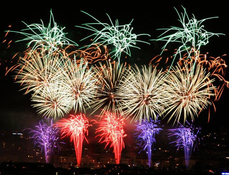 Download Fireworks stock photo. Image of fire, blast, event, burst - 1704156