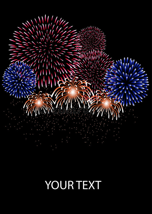 Download Fireworks stock vector. Image of stars, celebration, abstract - 17498047