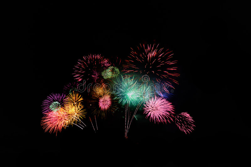Fireworks 2. An image of beautiful fireworks celebration royalty free stock photography
