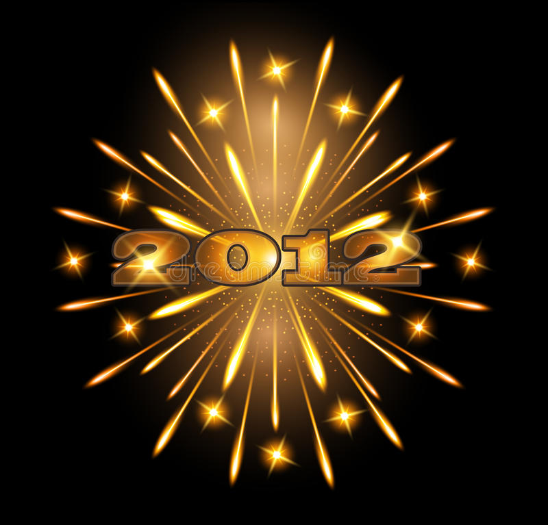 Download Fireworks 2012 stock vector. Image of gold, fiery, congratulation - 21918982