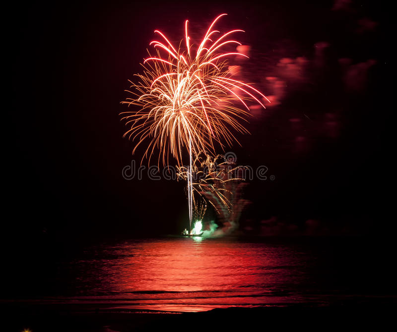 Download Fireworks stock photo. Image of reflections, green, celebration - 22658332
