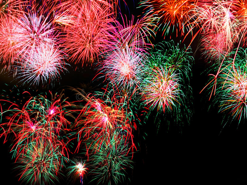 Fireworks. On a black background royalty free stock photography