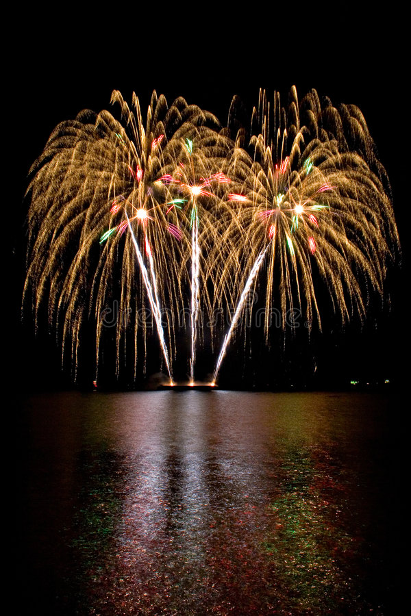 Download Fireworks stock image. Image of colors, river, explosion - 2643011