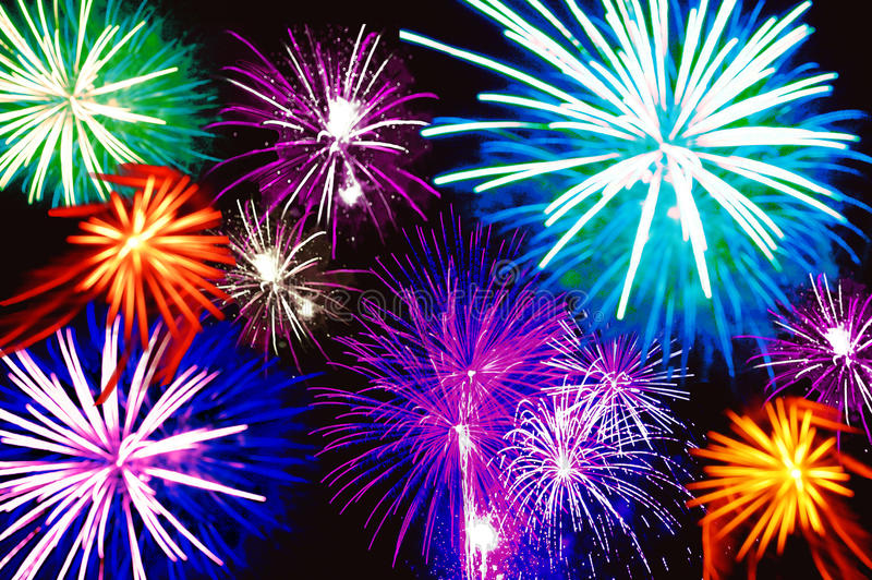Download Fireworks 3 stock photo. Image of brilliant, colourful - 10197308