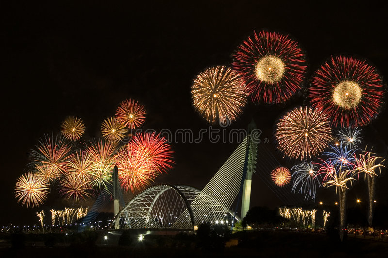 Download Fireworks stock photo. Image of calendar, boom, color - 3421832