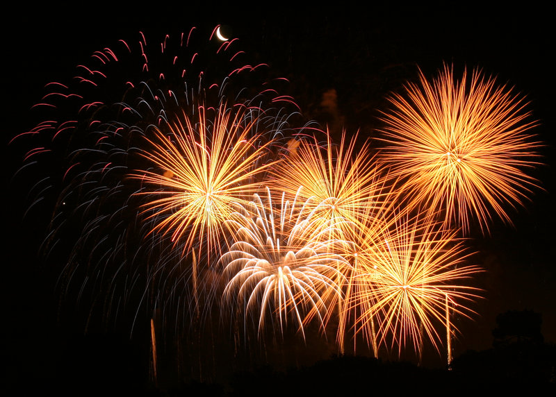 Fireworks... Fireworks display royalty free stock photography
