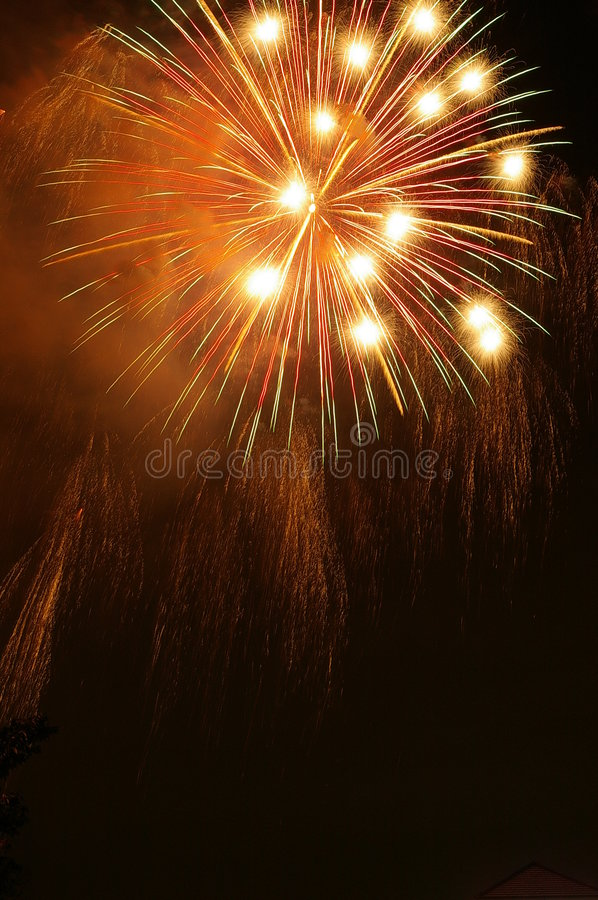 Download Fireworks stock photo. Image of festival, july, yellow - 492508