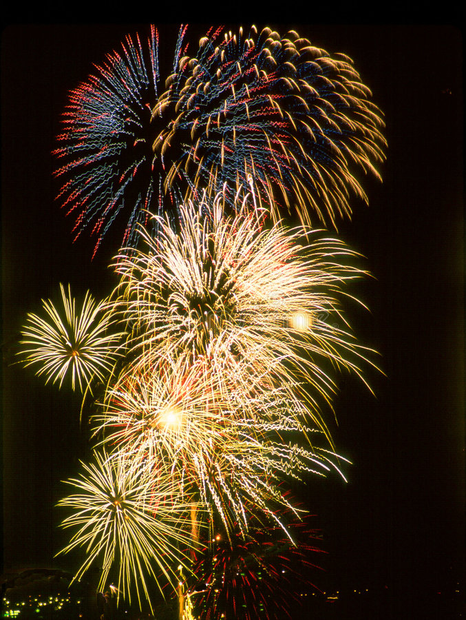 Fireworks 4th Of July. Madeira Beach Florida stock photo
