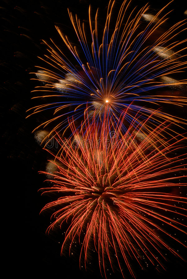 Fireworks. Colorful 4th of July fireworks display stock images