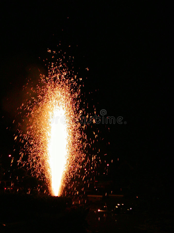 Fireworks. A fireworks candle showing off royalty free stock photography