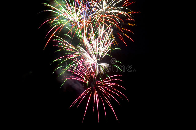 Download Fireworks 7 stock image. Image of fourth, explosion, entertainment - 309741