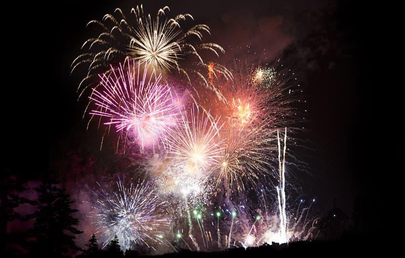 2 fireworks στοκ εικόνα