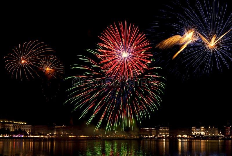 Download Fireworks Above Binnenalster Lake At Hamburg Stock Image - Image of festival, binnenalster: 26460109