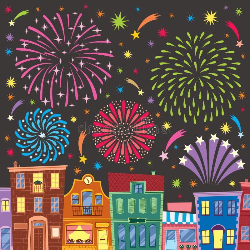 Fireworks stock illustration