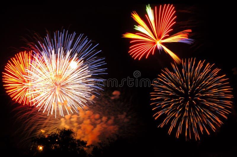 Fireworks array royalty free stock photos