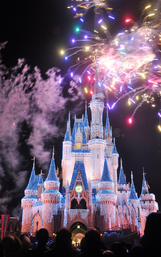 Free Fireworks At Disney Cinderella Castle Royalty Free Stock Photography - 23037267