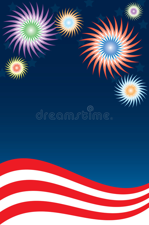 Fireworks Background stock illustration