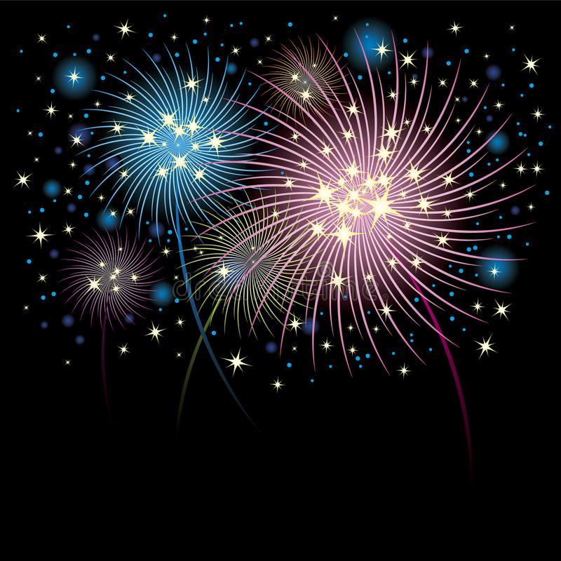 Download Fireworks background stock vector. Image of beautiful - 27626103