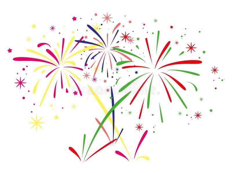 vector fireworks background royalty free illustration