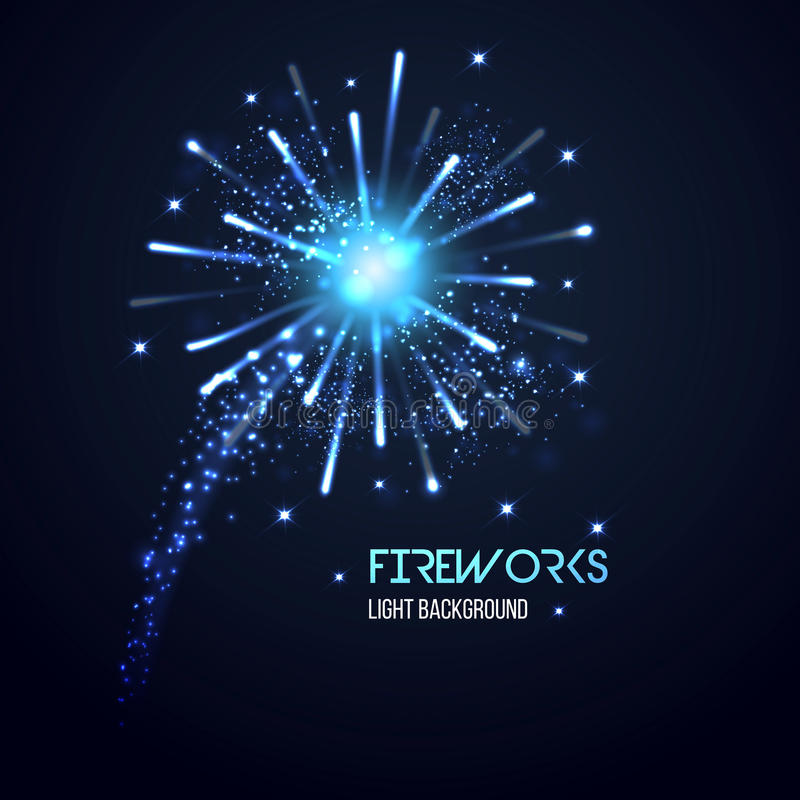 Fireworks background. Can be used as christmas banner. Vector royalty free illustration