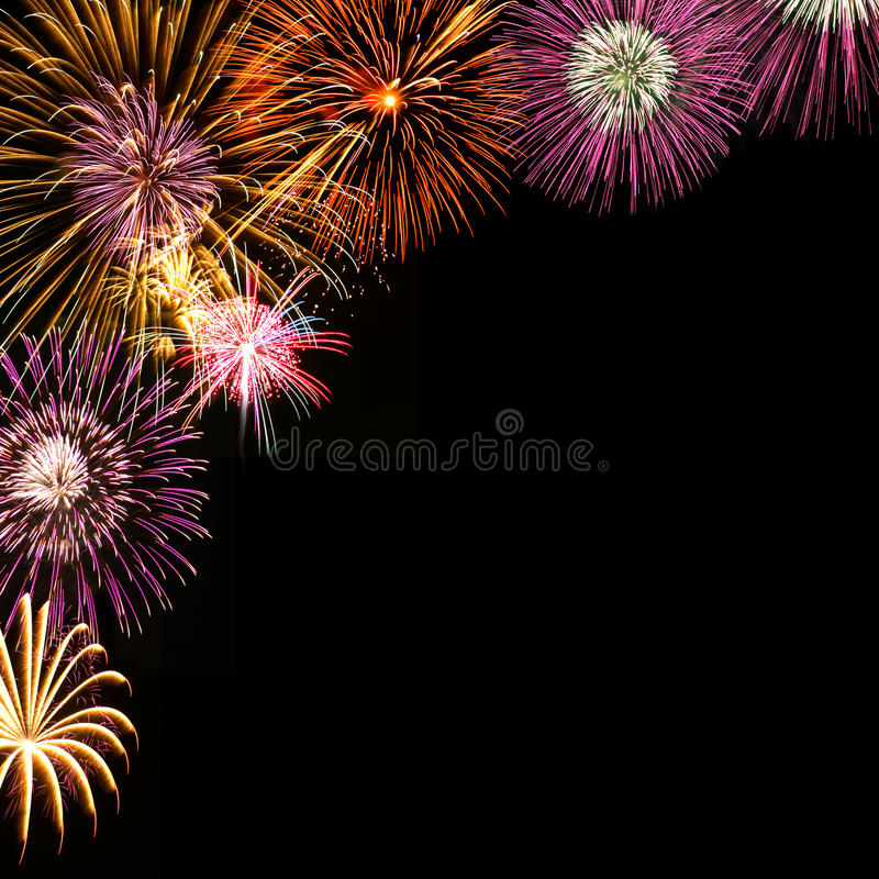 Fireworks background. Background of colorful fireworks, happiness, cerebration royalty free stock photography