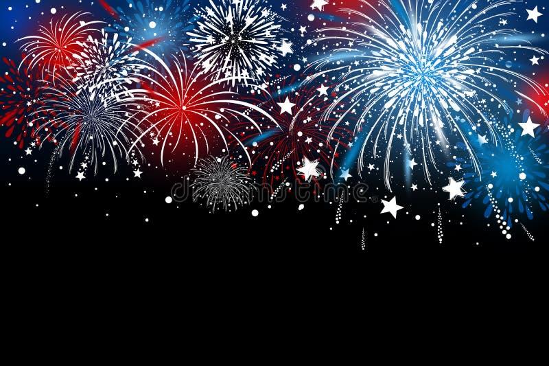 Fireworks background design vector illustration royalty free illustration