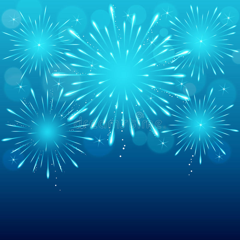 Fireworks background vector illustration