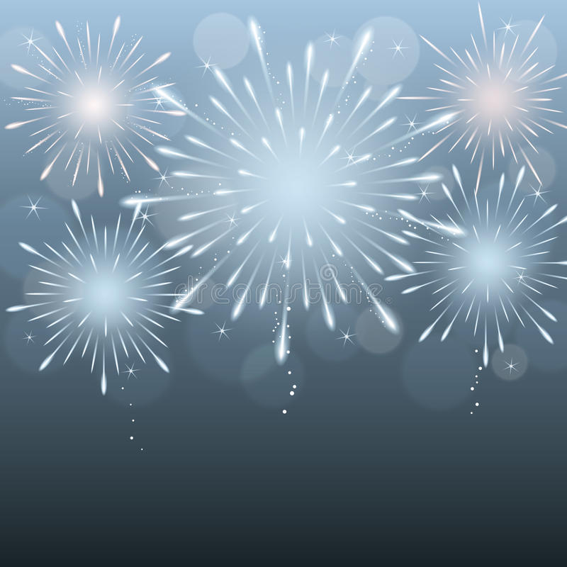Fireworks background stock illustration