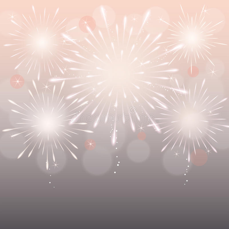 Fireworks background royalty free illustration