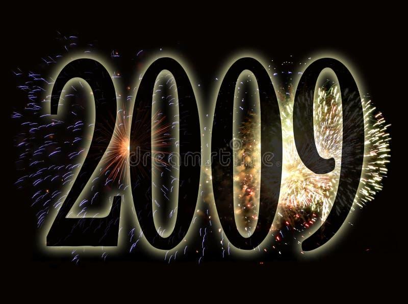 Fireworks background - new years eve 2009 stock illustration