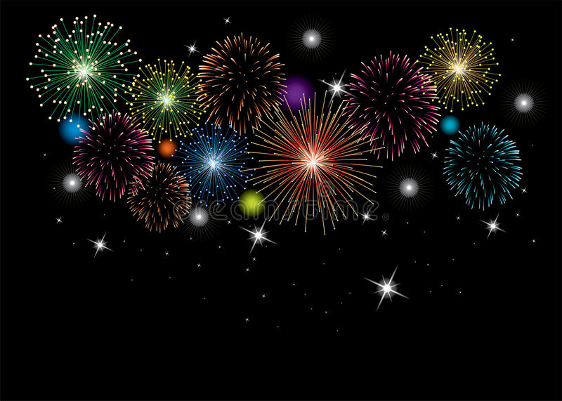 Fireworks background, vector vector illustration