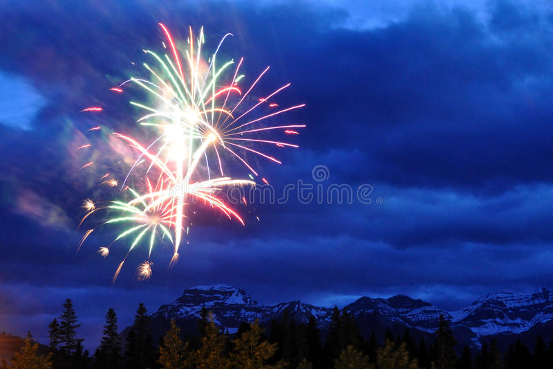 Fireworks at Banff royalty free stock photos