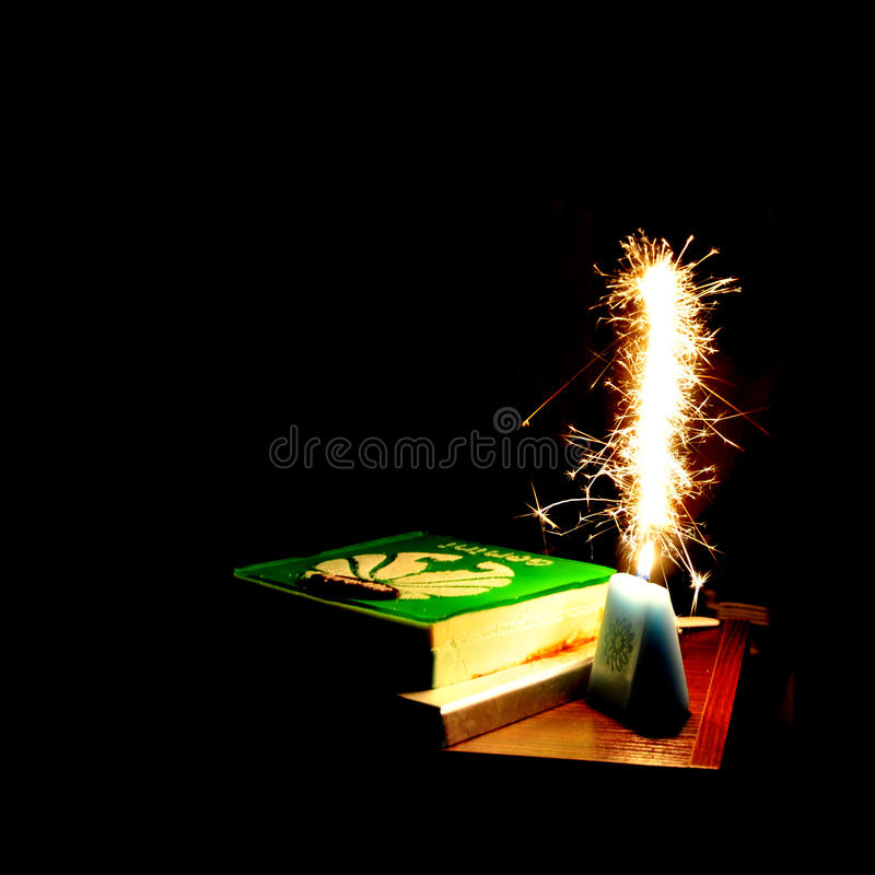 Fireworks on the birthday royalty free stock images