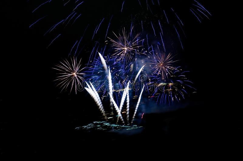 Fireworks on Black Background Horizontal stock images