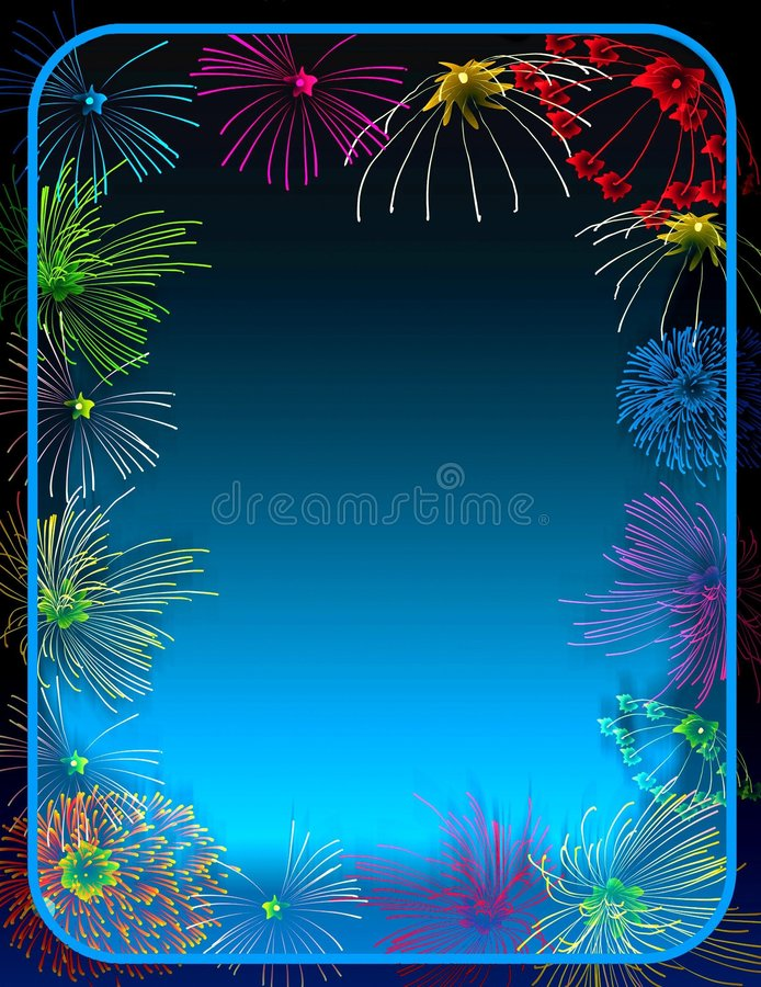 Free Fireworks Border Royalty Free Stock Images - 370819